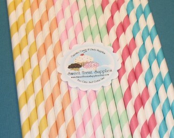 Sprinkles Striped Straw Collection With DIY Flag Toppers   (30)