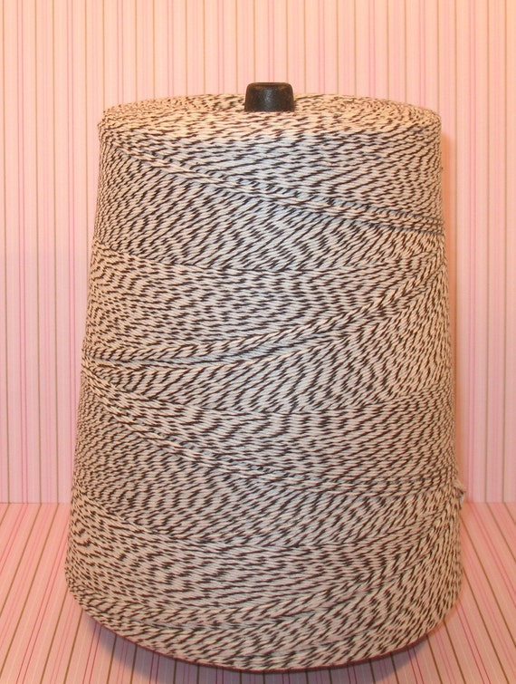 Chocolate Brown and White Bakery Twine  (25 Yds)  DISCONTINUED