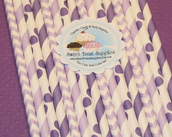 Lavender and Purple Paper Straw Collection With DIY Flag Toppers   (40)