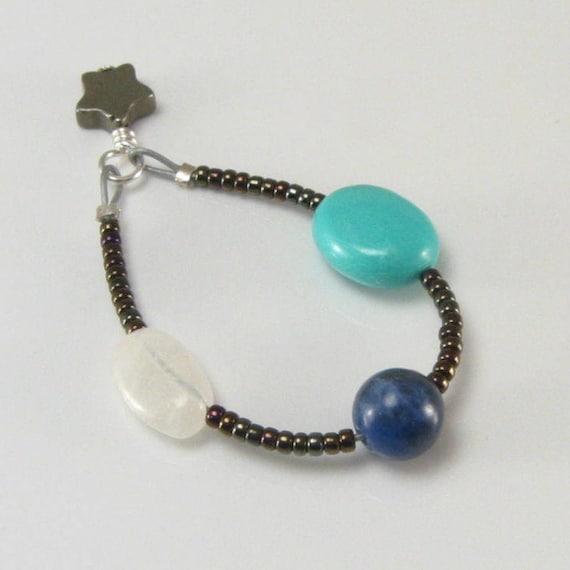 Sagittarius Zodiac string with rose quartz and glass beads