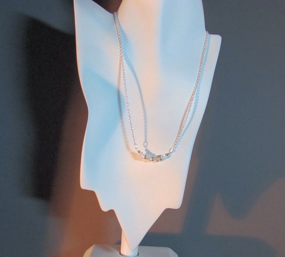 Archangel Raziel chain necklace using quartz and sterling cable chain for angel connections through crystal energy