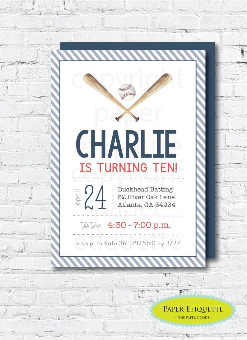 Baseball Birthday Invitations