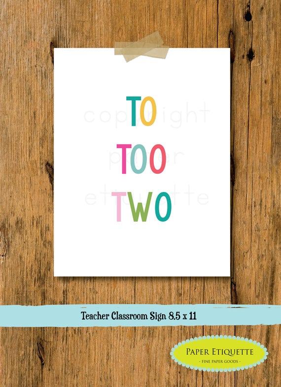 Teacher Gift Classroom Sign - Teacher Decor - Custom Teacher Sign -Classroom Rules -Teacher Gift - Custom Teacher Gift - Classroom Poster