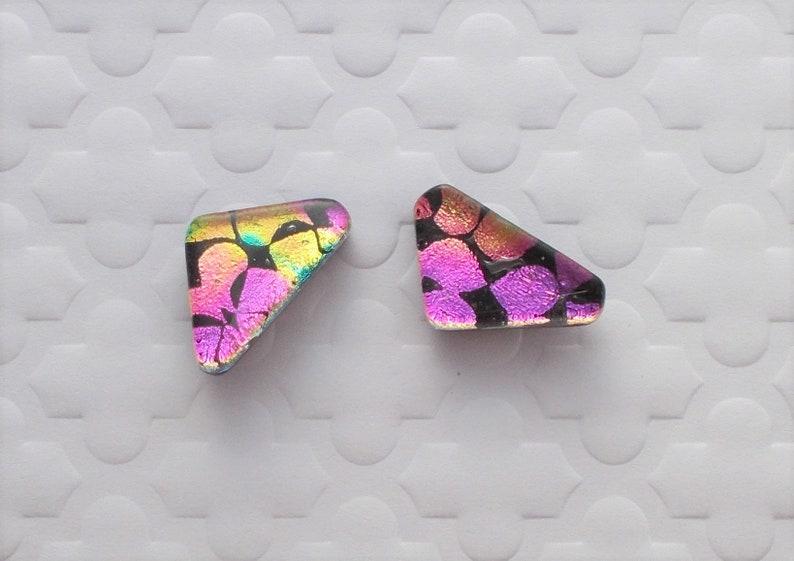 Dichroic Fused Glass Earrings Hippie Earrings Dichroic Earrings Boho Aztec Earrings Bohemian Earrings Dichroic Jewelry X1452