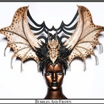 Sataphail Dragon... Decadent Horns in Bone with Wings and Dragon Skull