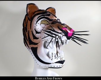 Tigressssss... Tiger Helmet Covered in Glitter and Jewels Lightweight
