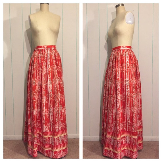 Lillie Ruben Red Maxi Skirt