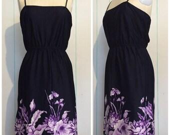 80s Floral Summer Dress size 6 - 8