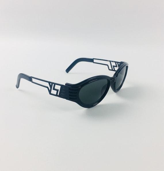 0ffdd67195e Vintage YSL Yves Saint Laurent Black Logo Sunglasses 1980s Small Frames Rare