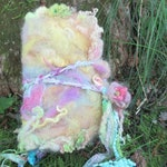 journal fantasy felted wool art book - faerie book of hearts