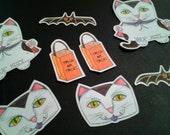 Halloween Vamp Kitty Sticker Set, 2016 Halloween sticker release