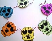 Skull Banner, Halloween, Day of the Dead