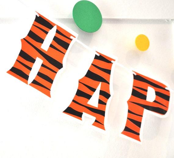 Tigger Birthday Banner Tiger Decor Winnie The Pooh