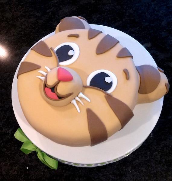 Tiger Cake Daniel Custom Birthday Cake Baby Shower Cake Etsy