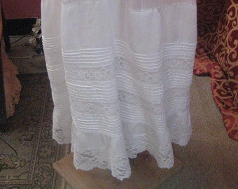 1900's, drawer string petticoat
