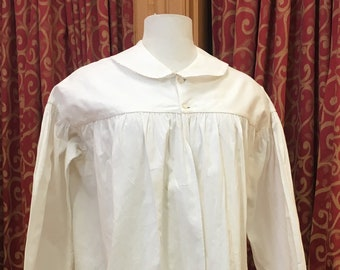 """1860s, 36"""" bust, white cotton bed jacket"""