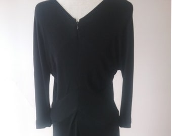 "1990's, 36""bust, Dolce and Gabbana black silk jersey, bias cut dress"