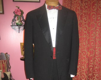 "1970's, 44"" chest, two piece tuxedo suit"