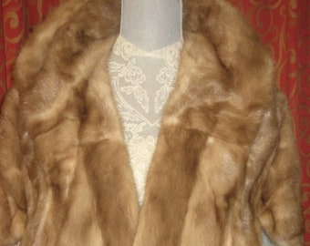 "1960's, 21"" long 17"" wide, ""pastel"" mink stole."