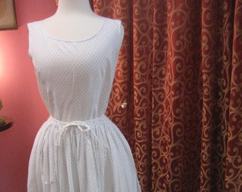 "1950's, 32"" bust, batiste cotton sun dress"