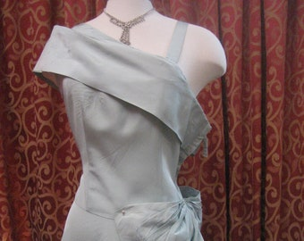 """1950's, 38"""" bust, robin's egg blue gown"""