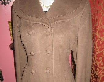 "1950's, 38"" bust, coca brown wool coat"