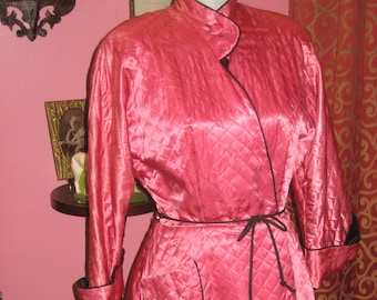 "1950's, 40"" bust, Chinese style short robe"