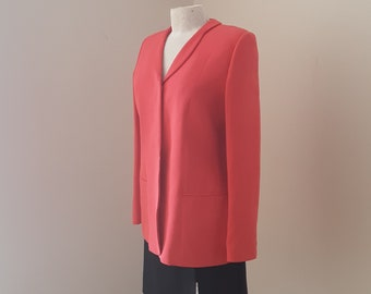 "1980s, 34"" bust, pure silk coral colored tailored Armani jacket"