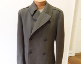"1966,40""- 42"" chest, USMC wool Serge green overcoat"
