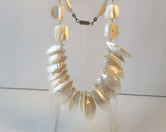 """1950s, 18"""" long, mother of pearl necklace"""