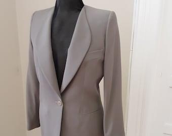 "1990s, 36"" bust, gray rayon crepe jacket"