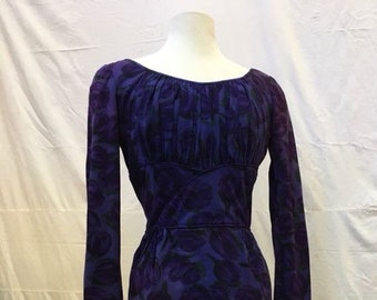 """1960s, 34"""" bust , soothing cotton sheath dress"""