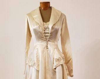 "1950s, 34""bust,wedding ensemble"