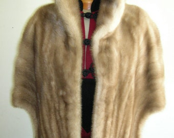 "1960's ""pastel"" (light golden tan) mink stole"