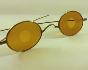 1915, amber glass sunglasses