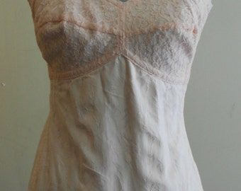 "1950's, 36"" bust, cotton pink brocade girdle."
