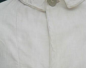 """1910-1915, 44"""" chest, unbleached cotton duster (car coat)"""
