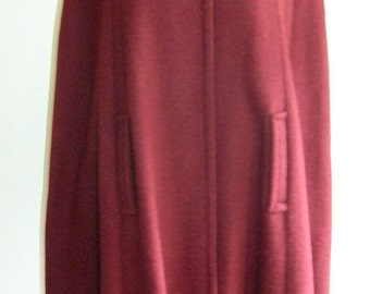 1970's full length cape with pointed velveteen collar