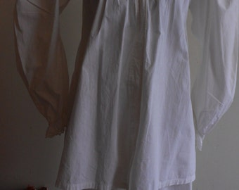 "1890's, 36"" bust, lawn cotton bed jacket, with high mutton chop sleeve"