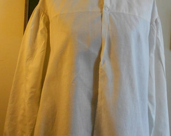 "1860's, 38""bust, white linen bed jacket."