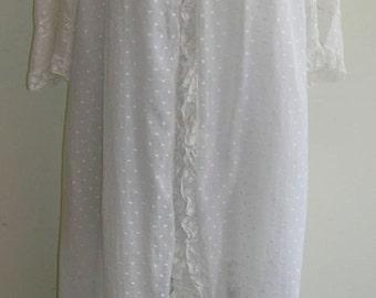 1900's White cotton robe