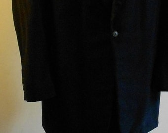 "1950's, 44"" chest, tux suit jacket, 38"" suit pants."