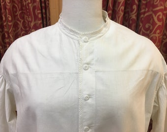 """1860s, 44"""" bust, long A line shaped nightgown"""