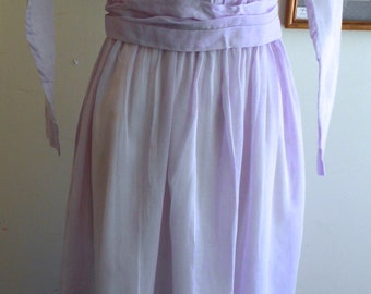 "1914, 36"" bust, pale lilac colored batiste cotton dress."