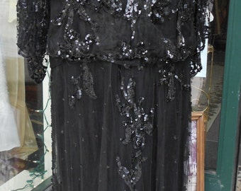 """1915, 38"""" bust, late Edwardian magnificent Downtown Abby dress"""