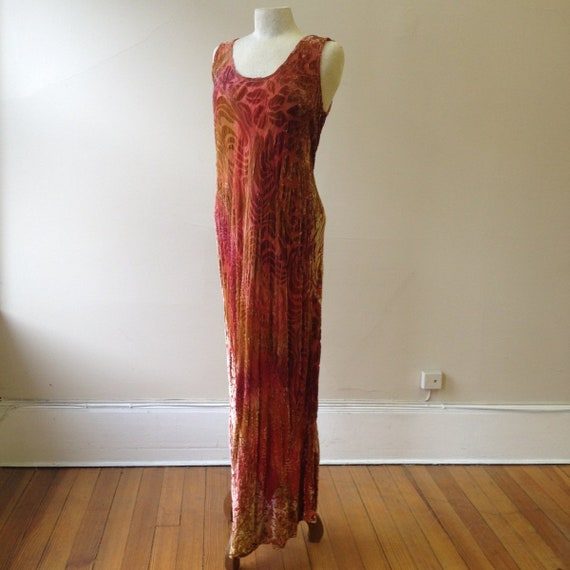 """1930's, 38"""" bust, bias cut, cut velvet Gown"""