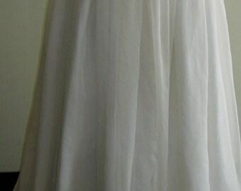"""1950's 25""""waist  white nylon ballet length, full skirt"""