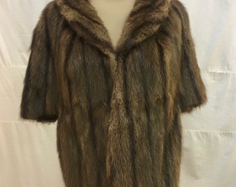 """1950s, 42"""" bust, mink stole with collar,"""