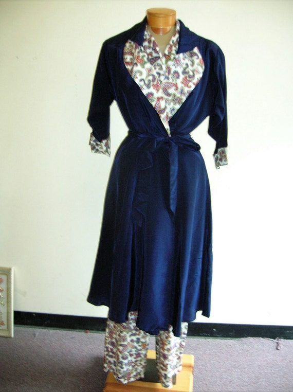 1950's small three piece pajama set