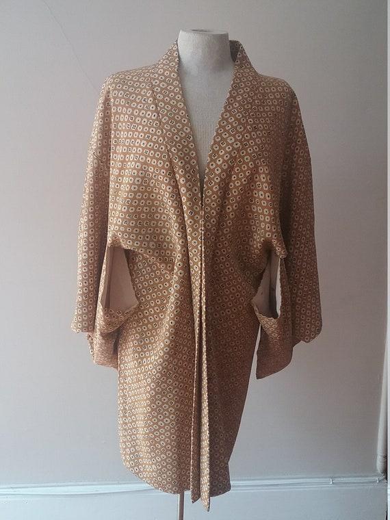 """Japanese short kimono (yakata) 40""""chest pure silk"""